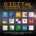 Freebie: Digital SocialMedia IconSet by bohncore