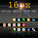 Freebie: 16px Social Media Icon-Set by bohncore