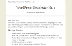 WordPress-Newsletter-Nr1