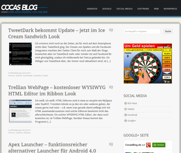 CocasBlog Screenshot