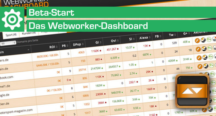 Webworker-Dashboard Beta Start