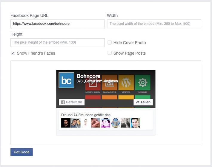 Facebook-Page-Plugin-Settings